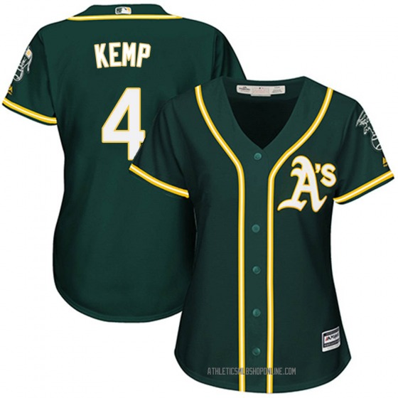 Women's Majestic Oakland Athletics Tony Kemp Green Cool Base Alternate Jersey - Authentic